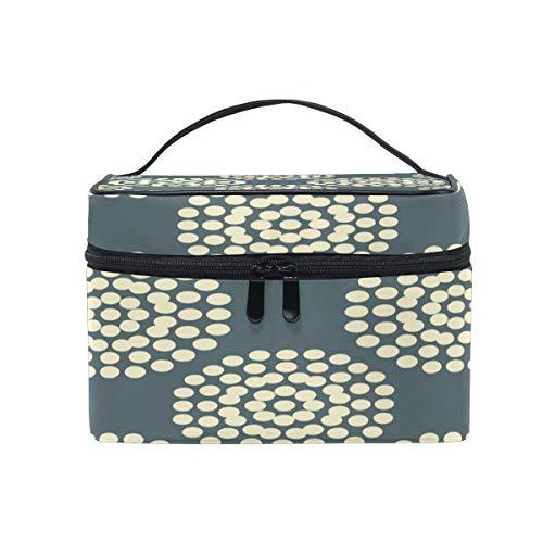 Sac cosmétique avec fermeture à glissière unique couche Dot Floral Fleur Sac De Rangement De Voyage Portable Organisateur Cas pour Femmes Maquillage Pouch Sac