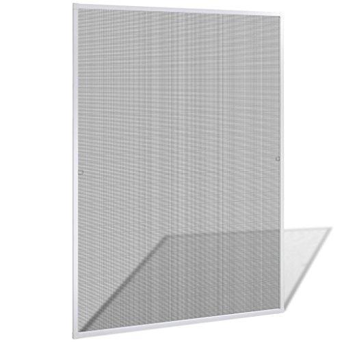 vidaXL Insektenschutz Fenster 130x150 cm Alu Rahmen Fliegengitter Mückengitter