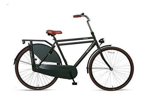 "Altec 28"" 28 Zoll Herren Holland City Fahrrad Herrenrad Cityrad Herrenfahrrad Cityfahrrad Hollandrad Hollandfahrrad Citybike Bike Rad Rücktrittbremse Omafiets Vintage Retro Roma MATT Grün"