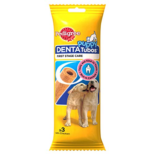 Pedigree Denta Tubos Puppy Oral Care Dog Treat, Chicken, (3 Sticks) 72g...