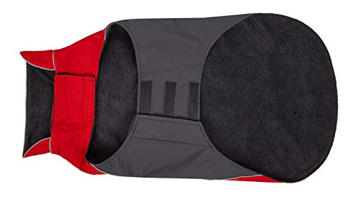 Hundemantel Warm, Innen mit Fleece, Hochwertiges Material, Atmungsaktiv und Wasserabweisend Wintermantel/Winterjacke (Größe 12) - 5