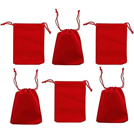 Wedding Favors Small Velvet Cloth Drawstring Bags Gift Bag Jewelry Ring Pouch