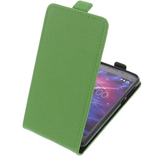foto-kontor Tasche für MEDION Life E5008 Smartphone Flipstyle Schutz Hülle grün