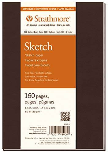 Strathmore 480-5 Softcover Art Journal, 5.5' x 8', White, 80 Sheets
