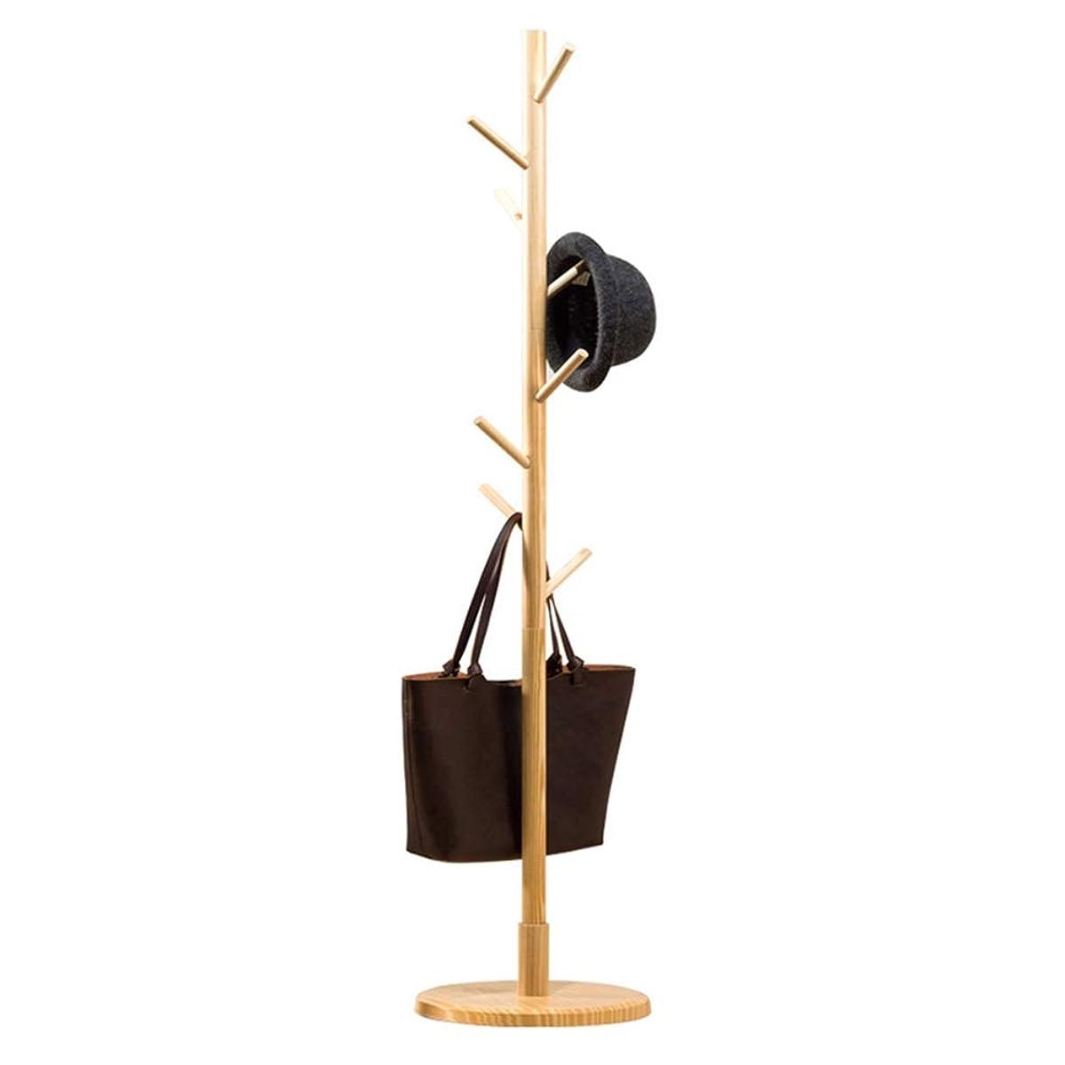 改修ステープル媒染剤ハンガーラック 家庭用の服ジャケット収納ハンガーオーガナイザー165 cmのための適切な8フック帽子コートスタンド付き木製コートラック