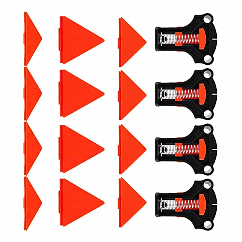 Pince d'angle 4 Pièces Pinces D'angle En Bois 60/90/120 Degrés Pince D'angle À Bois Pinces Droites Ensemble D'outils À Main Pour Montage Conique, Joints En T, Plaque Outils en bois