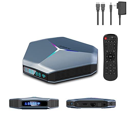 Smart TV BOX LVOD, 8K Conversor Digital Full HD Android 4G 32GB Youtube Media Player com controle remoto