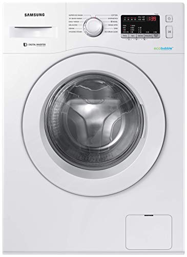 Samsung 6.0 Kg Inverter 5 star Fully-Automatic Front Loading Washing Machine (WW61R20EKMW/TL, White, Hygiene steam)