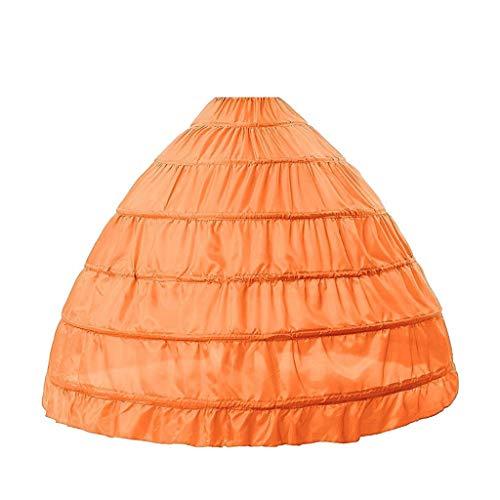 Vxhohdoxs 6 Kreolen, kein Garn, großer Rock, Brautschmuck, Brautschmuck, Hochzeitskleid, Petticoat, Damenkostüm, Röcke, Futter 8