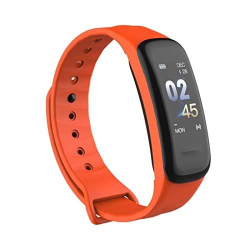 LXF JIAJU Muñeca Inteligente Bluetooth 4.0 Passómetro Monitoreo De Ritmo Cardíaco Deportes Soporte SmartBand Soporte (Color : Orange)