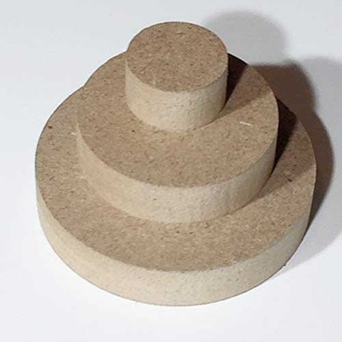 Sticker Design Shop MDF ronde houten schijf rond hout schijven cirkel tafelblad knutselen Ø50mm - Ø800mm Ø 200mm
