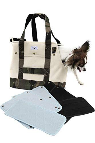[ENTRAMBI] ペットバッグ クール&ウォーム 接触冷感&あったかボア 帆布 キャンバス 3way 犬猫兼用 ドッグ...