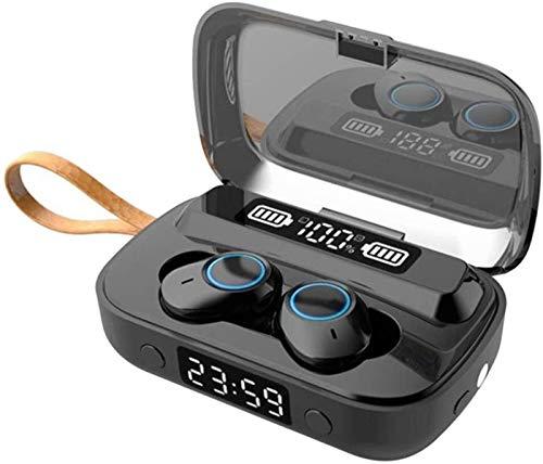 Plztou Es Cierto Wireless Auriculares Bluetooth 5.1 Auriculares con la Caja de Carga inalámbrica