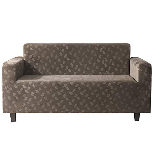 NOBCE Funda de sofá elástica Estirar el Abrigo Apretado Fundas de sofá con Todo Incluido para la Sala de Estar Funda de sofá Funda de sofá para Silla Funda de Almohada Marrón Claro 145-185CM