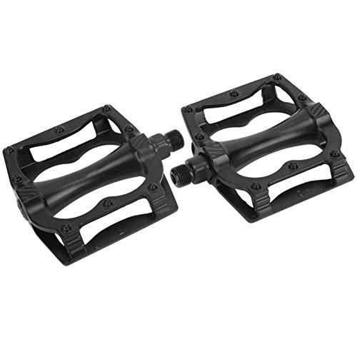 Cómodo rodamiento de bolas de aleación de aluminio con pedal de bicicleta, para bicicleta de montaña(black)