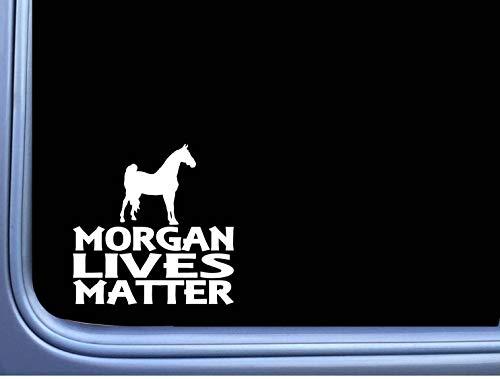 DKISEE Sticker Morgan Leeft Matter Sticker Paard Rescue Window Decal Laptop Vinyl Decal Venster Muursticker Auto Decal 8 inch Onecolor