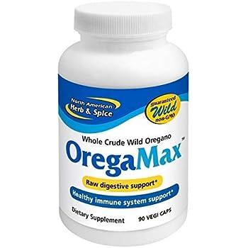 North American Herb & Spice OregaMax - 90 Capsules - Wild Oregano Supplement - Digestive & Immune Support - Oregano Oil, Garlic, Onion - Non-GMO - 90 Total Servings