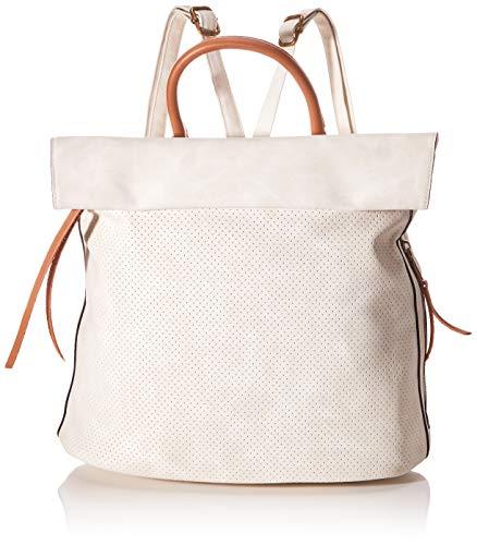 Remonte Damen Q0507 Rucksackhandtasche, Weiß (Kreide), 17x30x31 cm