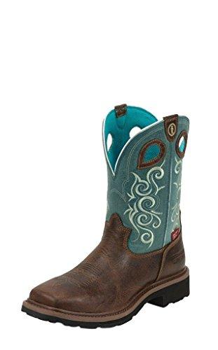 Tony Lama Women's Gladewater 3R Work Boot Composite Toe Brown 10 B (M) US
