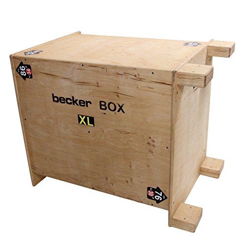 Becker-Sport Germany Becker Box XL Weltneuheit, 6 in 1 Box, (BSG 28955) einzigartige Plyo Box mit 6 Sprunghöhen