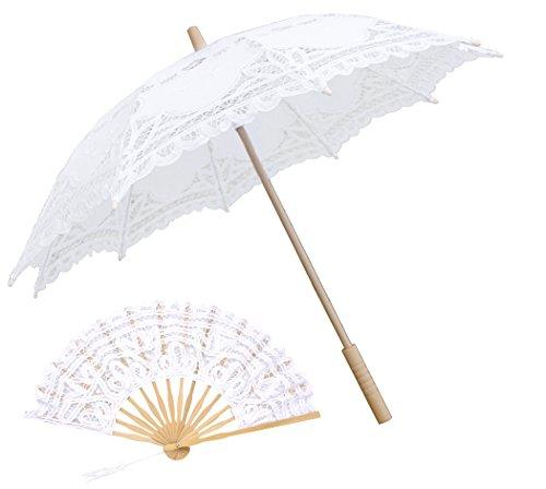 Sonnenschirm Spitze, Fascigirl Spitze Sonnenschirm Regenschirm für Braut Brautjungfer Hochzeit Fotografie Prop
