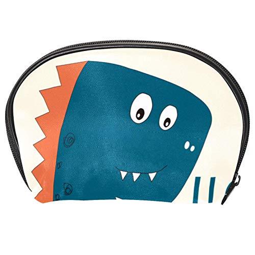 Neceser de Maquillaje Estuche Escolar para Cosméticos Bolsa de Aseo Grande Coche de Dinosaurio de Dibujos Animados