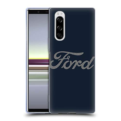 Head Case Designs Officially Licensed Ford Motor Company Detroit Ornament Logos Soft Gel Case Compatible with Sony Xperia 5