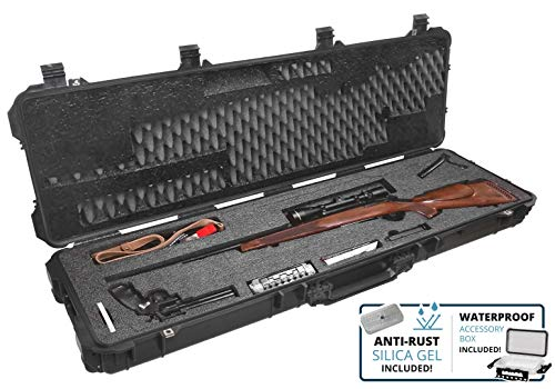 Case Club Hunting Rifle Pre-Cut Waterproof Case with Accessory Box and Silica Gel to Help Prevent Gun Rust (Gen 2)
