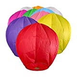 Chinese Lanterns 30-Pack Multi-Color, Fully Assembled and Fuel Cell Attached is 100% Biodegradable, New Designed Sky Lantern with Gift Box Coral Entertainments for Any Occasion. (Multi-Color)