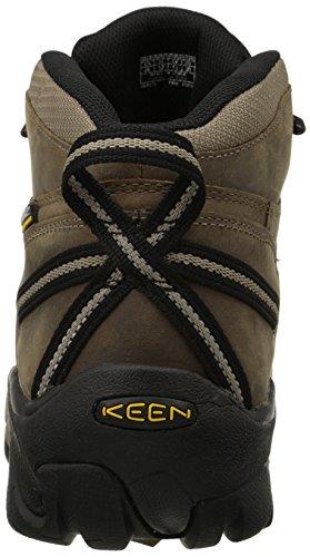 KEEN Men's Targhee II Mid Waterproof Hiking Boot,Shitake/Brindle,9 M US