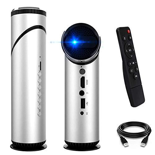 Proyector para películas al Aire Libre WiFi, Mini proyector portátil Bluetooth inalámbrico, 1080P Full HD y Pantalla de 12-200 '' Compatible, imágenes DLP, imágenes de reflexión difusa
