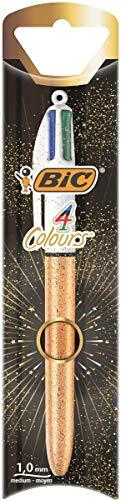 BIC balpen 4 kleuren goud blister 1 stuk