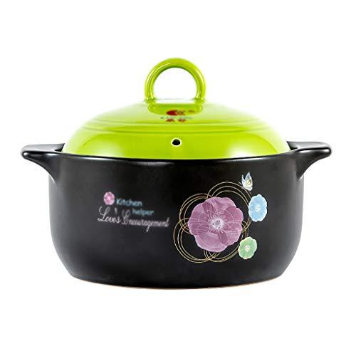 Faitout Casserole en céramique Cocotte feu ouvert Pot à haute température soupe Casserole Pot santé de grande capacité Casserole 2.2L, 3.6L, 4 L cocotte staub (Size : 4L)