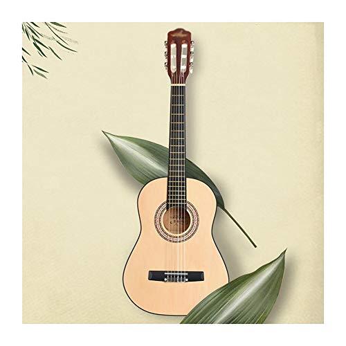 Guitarra Acústica Clasica Niños Principiantes Retro Abeto Guitarra De Madera 6 Cuerda De Nylon Pequeña Portátil Guitarra De Viaje con Estuche A Prueba De Agua, Correa,3 Tamaños,2 Colores Gdmin