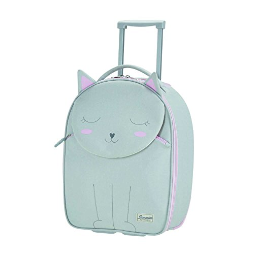 SAMSONITE Happy Sammies - Upright 45/16 Equipaje infantil, 45 cm, 24 liters, Gris (Kitty Cat)