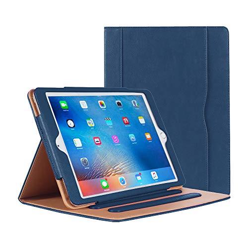 iPad Air / Air 2 Hülle - iPad PU Leder Smart Schutzhülle Cover Hülle mit Ständer Funktion & Auto-Einschlaf/Aufwach für iPad Air/Air 2 (Dunkelblau)