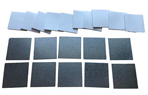 10 stuks metalen plaatjes incl. 2 mm zelfklevende pads - lijm stalen plaatjes voor magneten/houders & werkplaats - 25x25mm of 45x45mm - zelfklevend - 0,5 mm plaat 10St. 45mm
