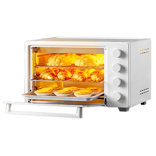 32L Mini Oven, 1600W Electric Oven with Rotisserie Automatic Roast Chicken Christmas, Toaster Oven,60 Minutes Timer& Multi-Function, Convection Oven
