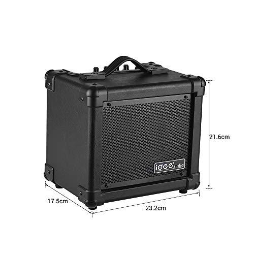Bedler AA-1 Tragbarer Desktop-E-Gitarren-Lautsprecher-Verstärker Wireless BT 10 Watt Combo Amp Black EU Plug