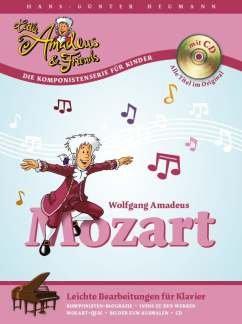 WOLFGANG AMADEUS MOZART - gearrangeerd voor piano - met CD [noten / Sheetmusic] uit de reeks: LITTLE ADEUS