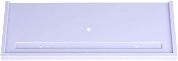 Uxcell Plastic Wall Mount 15 Inches Floating Shelf Adhesive Decorative Display Corner Storage Organizer Rack Holder Shelves For Kitchen Office Bathroom Pale Purple