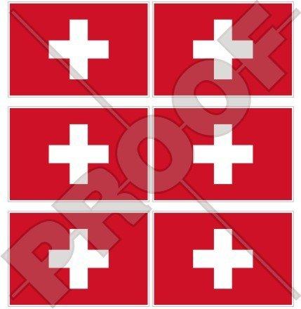 Suisse Drapeau Suisse Suisse, Schweiz 40 mm (40,6 cm) Téléphone Mobile Mini en vinyle autocollants, Stickers x6