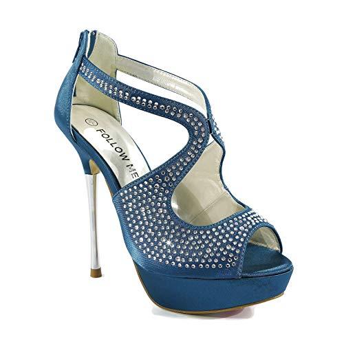 CORE COLLECTION Zapatos de tacón alto para mujer, para boda, boda, novia,...