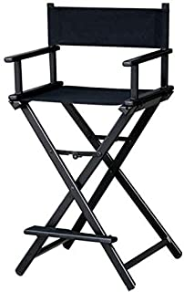 MAYLAN Makeup Artist Professional Director Chair Black Aluminum Lightweight