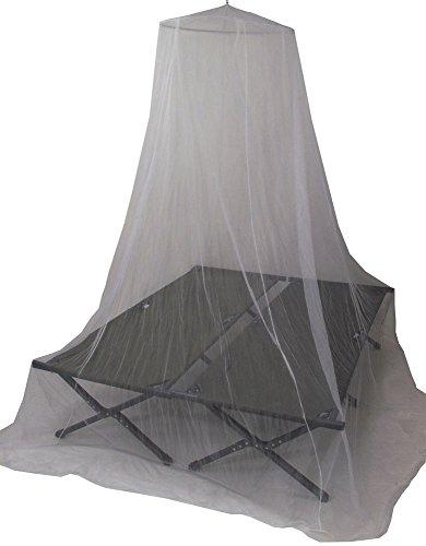 De Lux Moskitonetz für Doppelbetten 0,63x2,5x12,5m, weiß, 10x10x5 cm