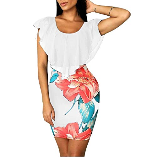 Eaylis Damen Kleid Mode Sexy Rock Kleider T-Shirt für V-Ausschnitt Sling Brautkleid Langarm Minikleid Langes Shirt Lose Tunika mit Bowknot Ärmeln