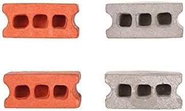 Kikkerland Cinder Block Magnets (Set of 4), Multicolored