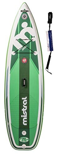Mistral Java 9'6 Tripe-Line, Superlight Woven-Fusion Layer Technology, Standup Paddel Board, SUP Gonfiabile con SUPwave.de Coil-Leash Stand up Paddle Board iSUP