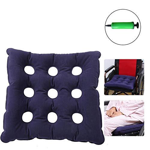 ZSPXZZ Medical Prevent Decubitus Cushions/Square Hole Air Cushion PVC Inflatable Air Cushion Wheelchair Office Car Air pad Seat Cushions Mattress Anti Bedsore,Blue
