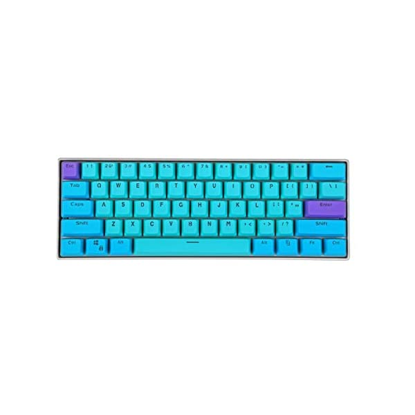 SK 60% Mechanical Gaming Keyboard,SK 61 Mini RGB Gateron Switch PBT Keycap 60% RGB Mechanical Gaming Keyboard